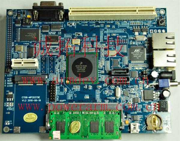 诚拓科技 MPC8377 MPC8377E MPC8379 MPC8379E开发板
